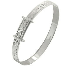 New Babies Silver Celtic Claddagh Expanding Bangle Bracelet Celtic Jewellery