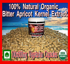 100 600mg 100% Natural Bitter Apricot Vitamin Kernels Seeds Extract B17 Veggie