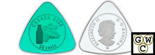2008 Triangle Milk Delivery Proof 50ct Silver (with Green Enamel) (12277)