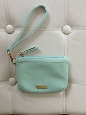 Tignanello Handbag:  Tignanello Pebble Leather Wristlet - Mint Colour