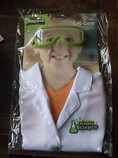 CHILDRENS / KIDS PRIMARY SCIENCE LAB GEAR white coat ( age 3-6) and lab glasses