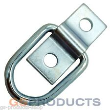 Mini Zinc Plated Lashing D Cleat Ring on Plate FREE P+P
