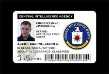 THE BOURNE IDENTITY Wallet ID Card Prop (Jason Bourne's CIA ID Card) PVC PLASTIC