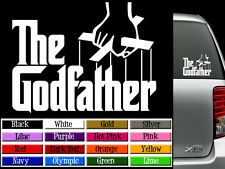 "The GODFATHER Vinyl Decal Auto Graphics Wall Sticker Laptop Phone Tablet 5"" wide"