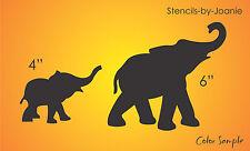 "Zoo STENCIL 6"" Mom Baby Elephant Pachyderm Parade Circus Safari Outdoor Art Sign"