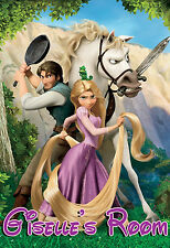 006 DISNEY PRINCESS TANGLED RAPUNZEL PERSONALIZED CUSTOMIZED DOOR ROOM POSTER