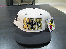NEW VINTAGE New Orleans Saints Snap Back Hat Cap #1 Apparel GHOST Football 90s