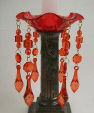 Red Acrylic Teardrop Candle Bobeche Candle Ring