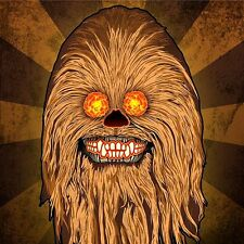 "2.5"" Star Wars Chewbacca Sugar skull vinyl bumper STICKER. Wookie, Han Solo"