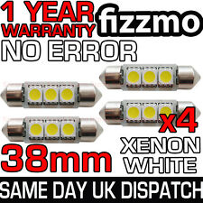4x 38mm 3 SMD LED 239 272 C5W CANBUS NO ERROR WHITE INTERIOR LIGHT FESTOON BULB
