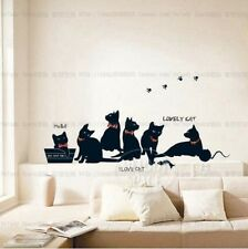Black cat family Home Decor Removable Wall Sticker/Decal/Decoration