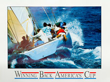 WINNING BACK AMERICA'S CUP - America's Cup 1987 poster, signed by the artist