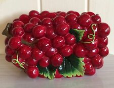 Retro kitsch cherry berry napkin/letter holder