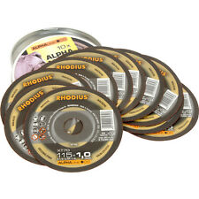NUEVO Rhodius Fino Discos De Corte 115 x 1 x 22mm Paquete De 10