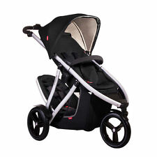 Phil & Teds Vibe Double Stroller V3 Black Brand New In Box 2014 w/ Warranty!