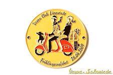 """Vespa de metal-placa """"frühlingsausfahrt Lippstadt 2009"""" - 50 unid. en todo el mundo! g"""