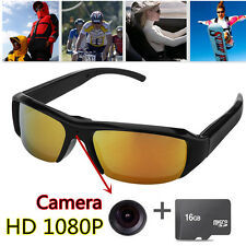 1080P HD Digital Video Spy Sun Glasses Camera Hidden Eyewear 16GB Camcorder DV