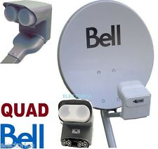 "20"" BELL HD SATELLITE DISH + QUAD DPP LNB + SWITCH DP PLUS LNB 82 91 500 HD TV"