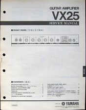YAMAHA VX25 Guitar Amplifier Original Service Manual, Schematics Parts List Book