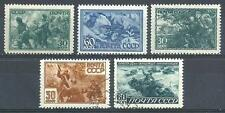 Russia 1943 Sc# 890-94 set WWII Army soldiers Young pioneers MNH and CTO