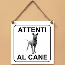 Thai Ridgeback 1 Attenti al cane Targa piastrella cartello ceramic tile sign dog