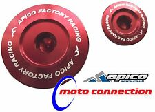 APICO RED ANODIZED ALLOY ENGINE PLUGS HONDA CRF250X CRF450X  02-13  EP-001 RED