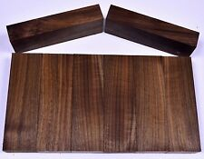 "knife Block Scales BLACK WALNUT Pistol Grip 5""x 1 1/2"" craft Wood Bulk"