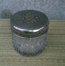 Ancien pot a fond de teint  son plumeau, maquillage vintage, old makeup