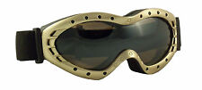 SKI GOGGLES Snowboard Snowmobile Motorcycle Glasses ATV Anti Fog Snow GOLD BRONZ