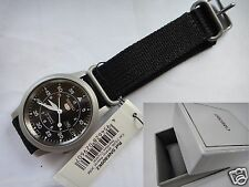 SEIKO 5 SNK809K2 AUTOMATIC military 37mm Black Canvas Band Day-Date with BOX