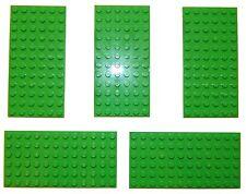 LEGO large plaque 6x12 vert vif nº pack de 5 # plate plaque 12x6 minecraft