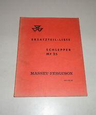Teilekatalog /  Ersatzteilliste Massey Ferguson Schlepper MF 25 - St. 08/1961