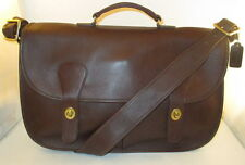 "Coach Vintage Mahogany Leather Musette ""Carrier"" Bag/Briefcase - New w/o Tags"