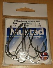 Mustad 34007-SS 5/0 Stainless Steel Fishing Hooks Qty. 8