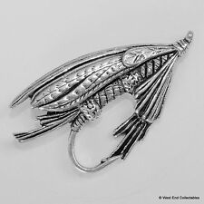 Trout Salmon Fly Pewter Pin Brooch -British Hand Crafted- Fishing Flies Lure