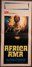 Locandina AFRICA AMA 1°ED.IT.1971 GUERRASIO CASTIGLIONI PELLINI DOCUFILM