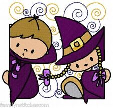 Curly Halloween Blocks 10 Embroidery Designs on multi-formatted CD in  2 sizes