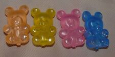 Reusable Ice Cubes 4 Teady Bears Pink Yellow Peach Blue