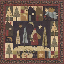 """~ NEW QUILT PATTERN ~ APPLIQUE & PIECED ~ 34""""X34"""" SANTA WALL HANGING ~i"""