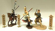 Sengoku Eiyu Nobunaga Oda & Musashi Miyamoto & Toshiie Maeda Mini Figure Japan