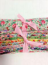 "28 Vintage Bouquet Shabby chic light precut 10"" layer cake  fabric quilt"