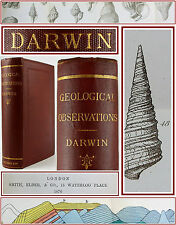 CHARLES DARWIN*GEOLOGICAL OBSERVATIONS*VOLCANIC ISLANDS/AMERICA/GEOLOGY/FOSSILS
