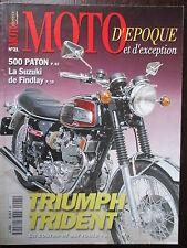 REVUE MOTO D'EPOQUE N°21 TRIUMPH TRIDENT 500 PATON 250 DKW URE SUZUKI FINLAY