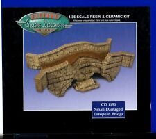 CUSTOM DIORAMICS CD 1150 - SMALL DAMAGED EUROPEAN BRIDGE 1/35 RESIN/CERAMIC KIT