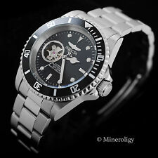 Invicta Skeleton Window Mens AUTOMATIC Pro Diver Stainless Steel 40 mm Watch NEW