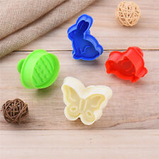 4pcs Butterfly Rabbit Chick Easter Egg Biscuit Cookie Cutter Fondant Cake Mold