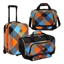 Loudmouth Microwave 3pc Carry-on Rolling Suitcase Duffel Bag & Tote Luggage Set