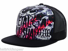 METAL MULISHA CYCLOPS MESH BACK FLAT BILL SNAP BACK TRUCKERS CAP/HAT - OSFM