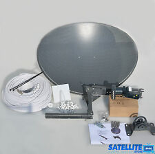 Freesat / Sky 60cm zone 1 satellite dish & quad lnb + 10m Single White Coax kit