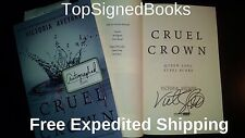 SIGNED Cruel Crown Red Queen prequel by Victoria Aveyard, autographed special ed
